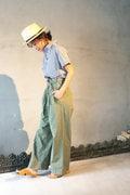 【佐藤純さん着用】Luxluft ハイウエストベルトパンツ