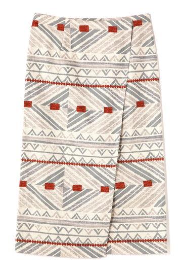 dunadix ネイティブ柄ラップスカート
