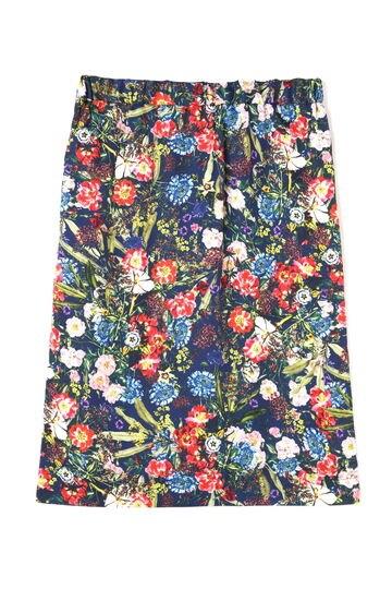 Unaca noirフラワープリントフレアスカート