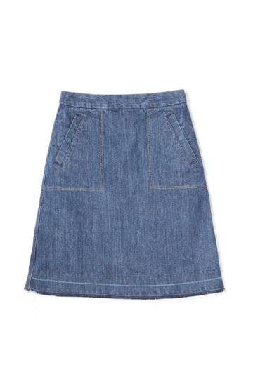 Luxluft カットオフデニムスカート