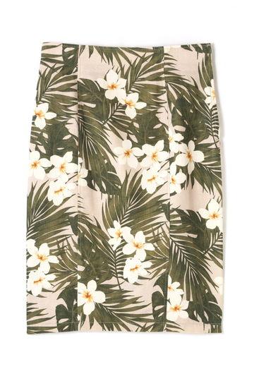 【先行予約 5月上旬 入荷予定】dunadix ハイビスカス柄スカート