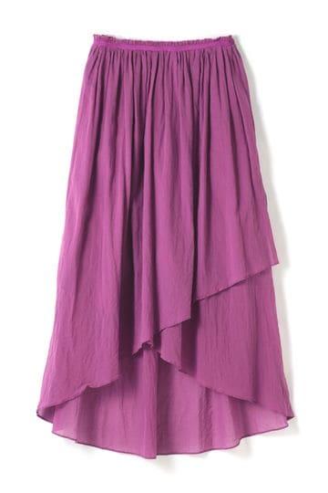 【先行予約 5月上旬 入荷予定】dunadix コットンシフォンギャザースカート