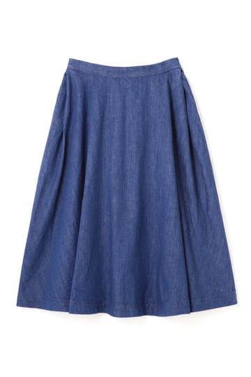 Luxluft デニムフレアスカート