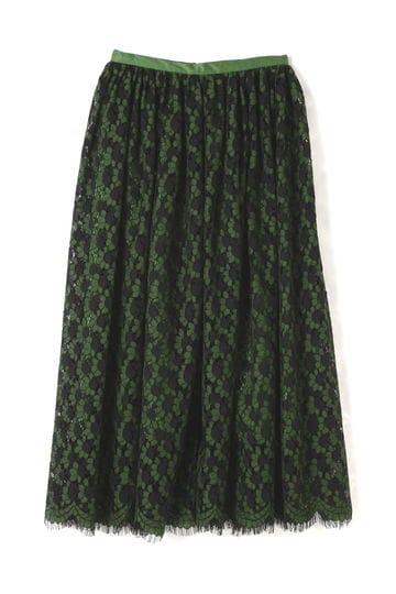 【乙黒えりさん着用】Unaca noir フラワーレーススカート