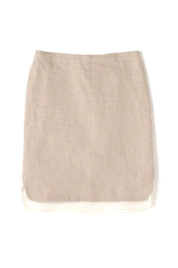【先行予約 4月下旬 入荷予定】Unaca noir バイカラーヘムスカート