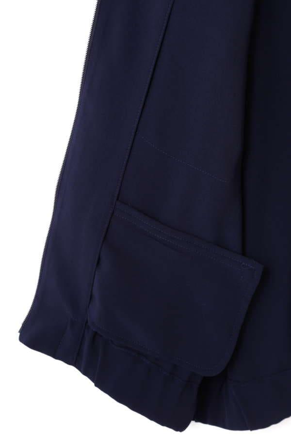 DIRECTOIRE 胸ポケットノーカラーブルゾン
