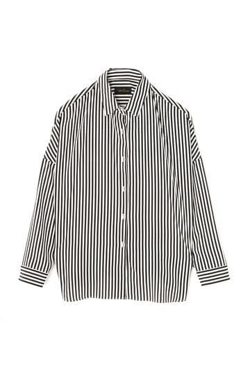Unaca noir パールボタンプリントシャツ