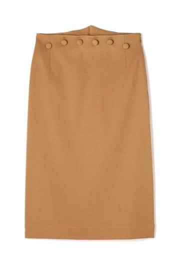 Unaca noir ボタンタイトスカート