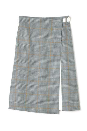 DIRECTOIRE グレンチェックラップ風スカート(セットアップ対象商品)
