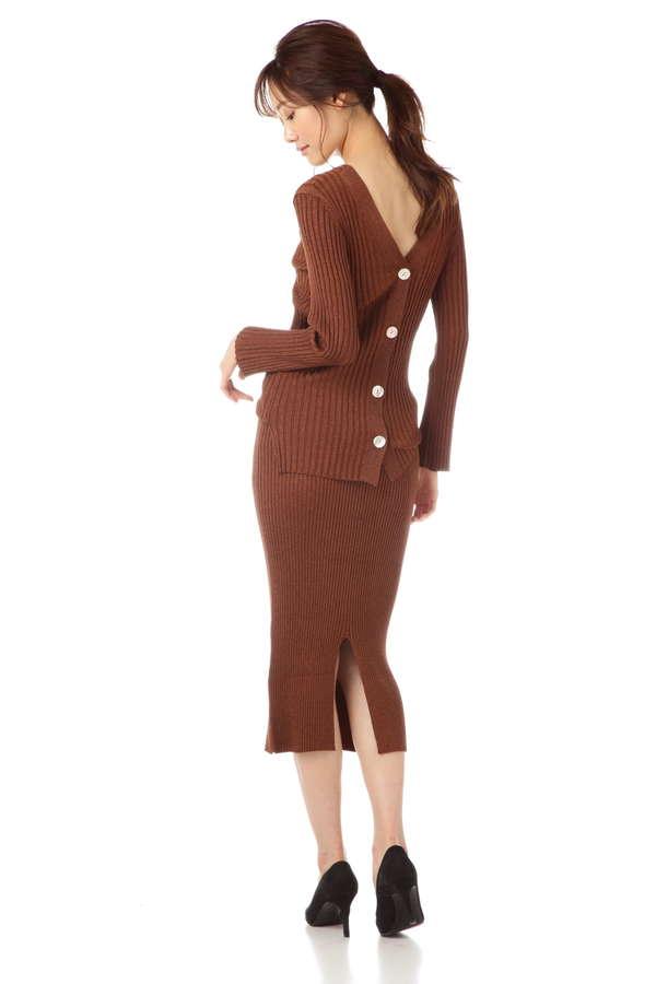 dunadix ラメニットタイトスカート(セットアップ対象商品)
