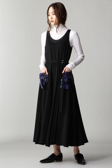 Fuhlen フラワークラフトジョーゼットドレス