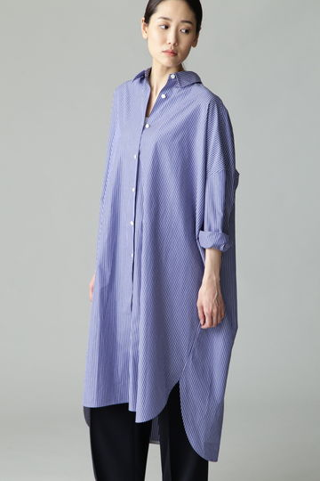 【ELLE online掲載】dunadix コットンビッグシャツワンピ