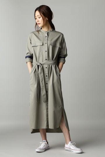 Luxluft バンドカラーシャツコート