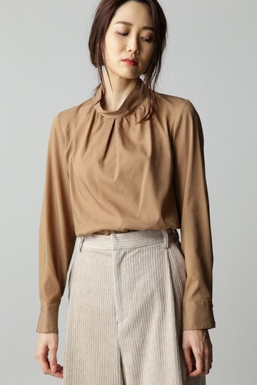 Luxluft ハイネックプルオーバーシャツ