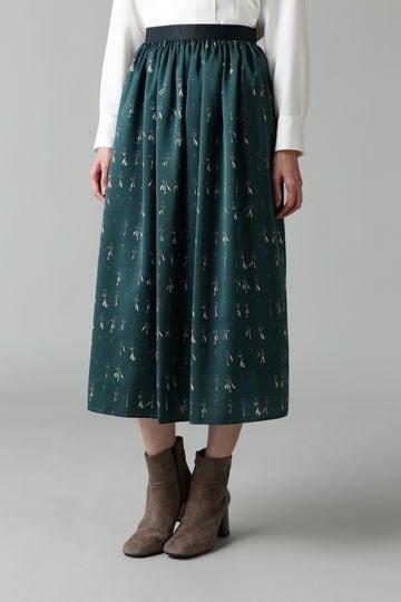 DIRECTOIRE KEYプリントギャザースカート