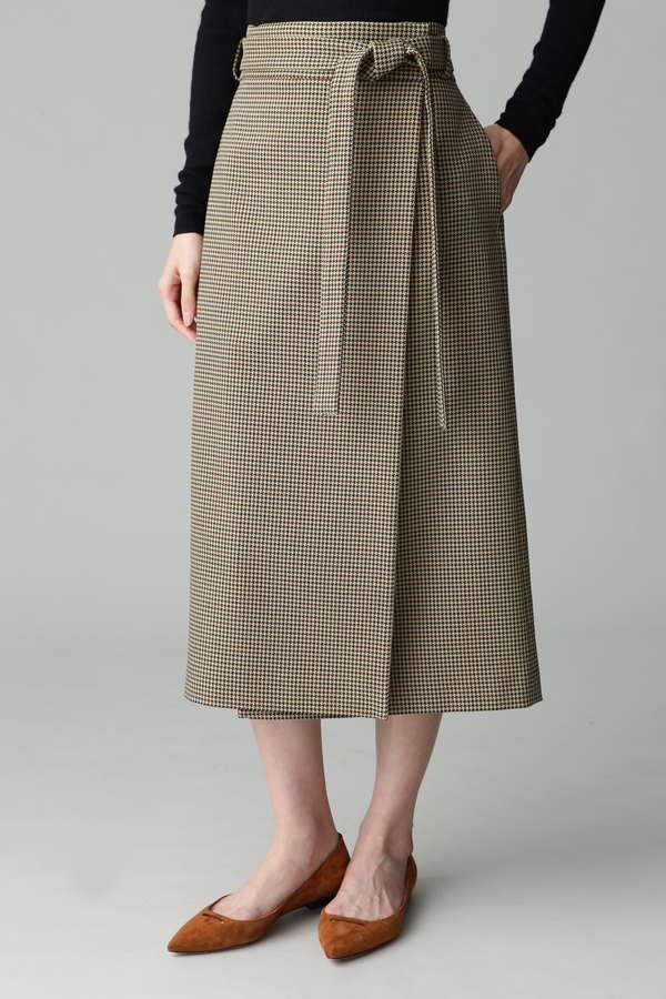ガンクラブチェックラップ型スカート