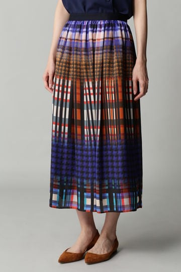 DIRECTOIRE チェックプリントギャザースカート