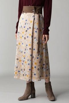 DIRECTOIRE ハイウエストフラワープリントスカート