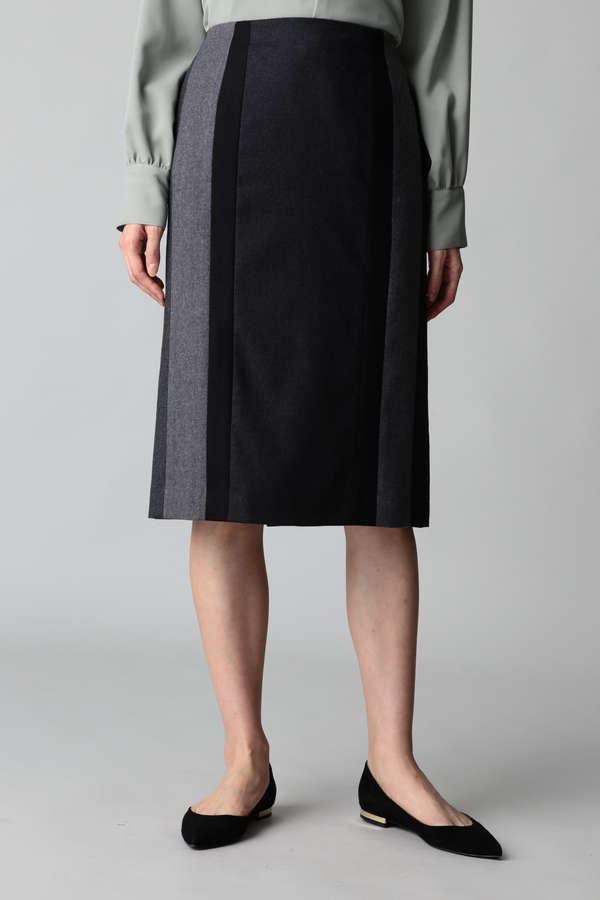 カラーブロックタイトスカート