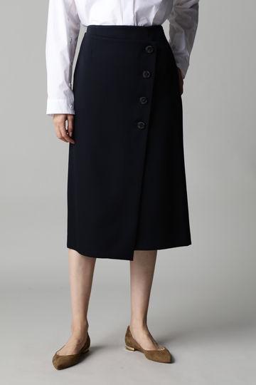 DIRECTOIRE ラップ風ボタンスカート