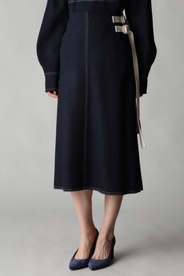 Fuhlen スムースラップ風スカート(セットアップ対象商品)