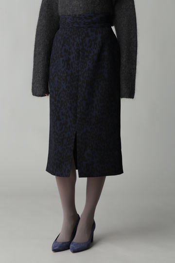 Unaca noir レオパードタイトスカート