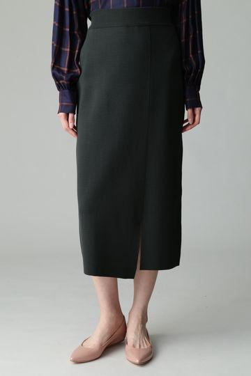 【先行予約 9月下旬 入荷予定】Unaca ミラノリブスリットタイトスカート