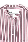 TICCA ノーカラーストライプワンピース