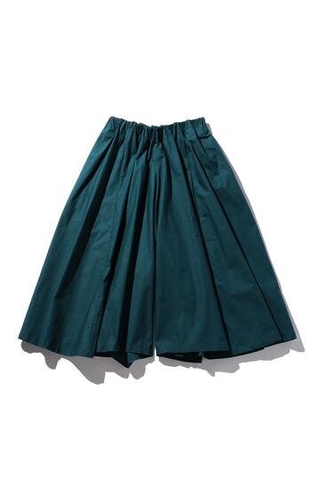 ギャザーミモレスカート風パンツ