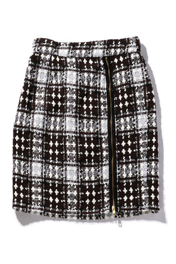 チェック柄サイドジップスカート