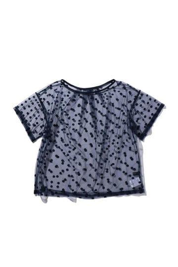 ドット柄シアーTシャツ