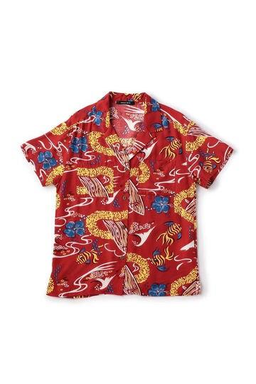 プリントアロハシャツ