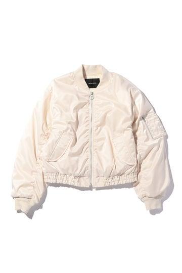 ショート丈MA-1ジャケット