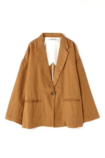 麻素材テーラードジャケット
