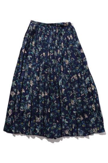 ボタニカル柄プリーツスカート