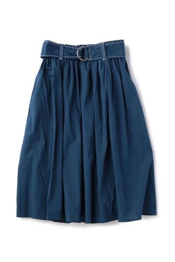 ベルト付きギャザーボリュームスカート