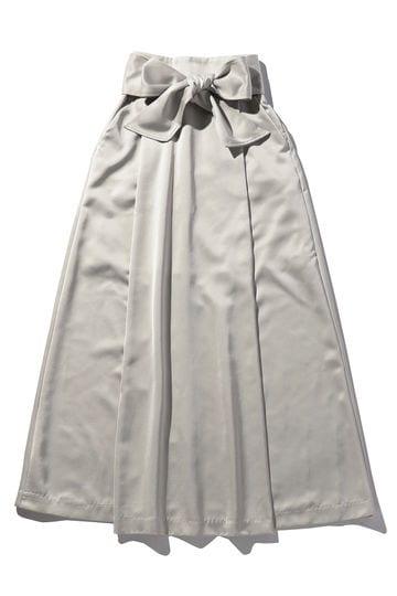 ウエストリボンスリットスカート