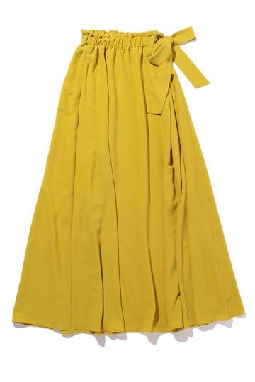 [WEB限定]ウエストギャザーロングスカート
