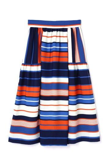 パッチワークボーダースカート