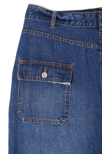 【先行予約 8月上旬お届け予定】ラップデザインデニムスカート