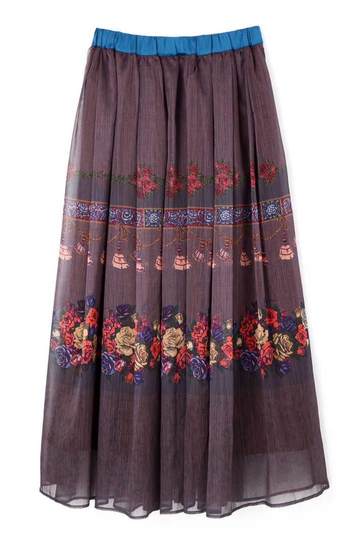 ローズプリントスカート