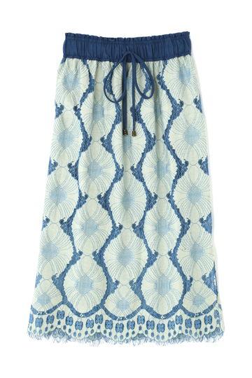 レース刺繍マキシスカート