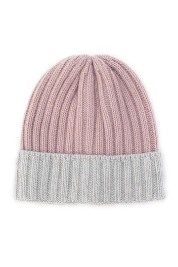 ウールレーヨン混リブニット帽