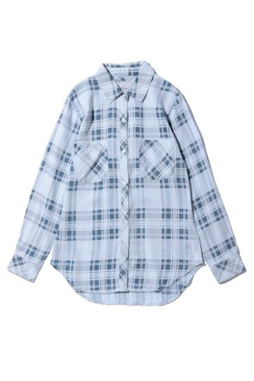 RAILSチェック柄長袖シャツ