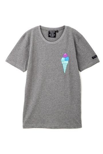 [QUATRE CENT QUINZE]プリント半袖Tシャツ