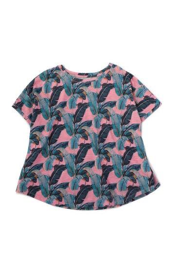 ボタニカル柄Tシャツ