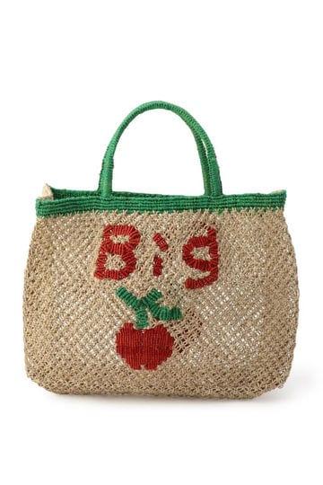 デザイン麻素材バッグ