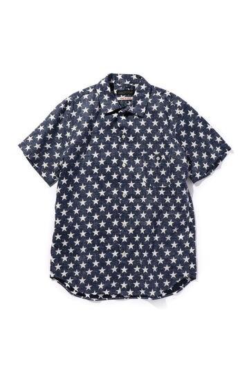 スター柄リネンシャツ