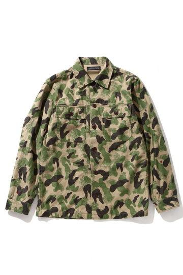 【先行予約 9月上旬お届け予定】メンズカモフラージュ柄シャツ