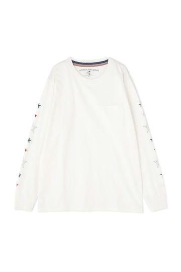 刺繍ロングTシャツ